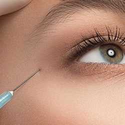 Patient receiving Botox Cosmetic injection